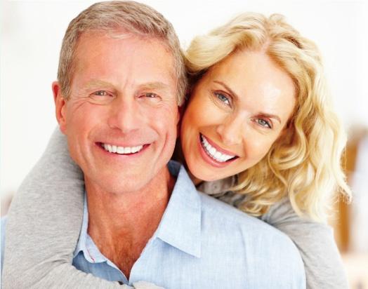 happy, smiling senior couple